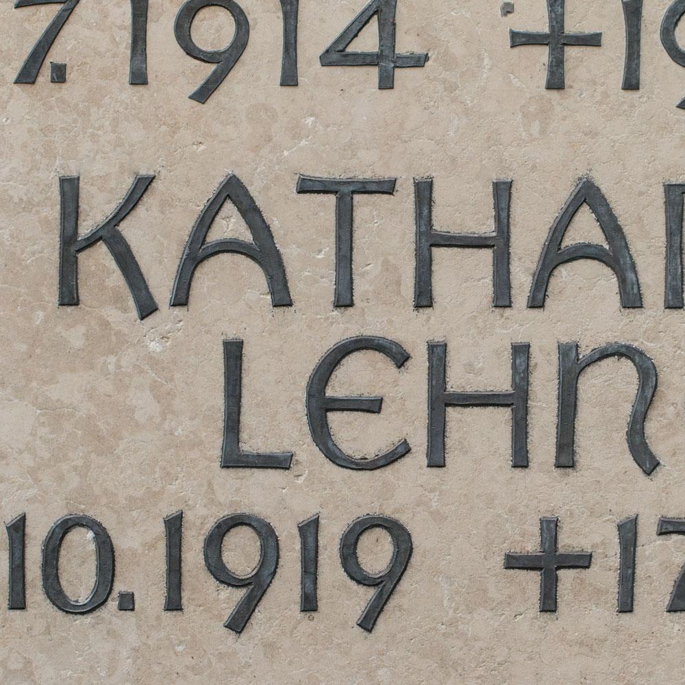Inschrift Blei