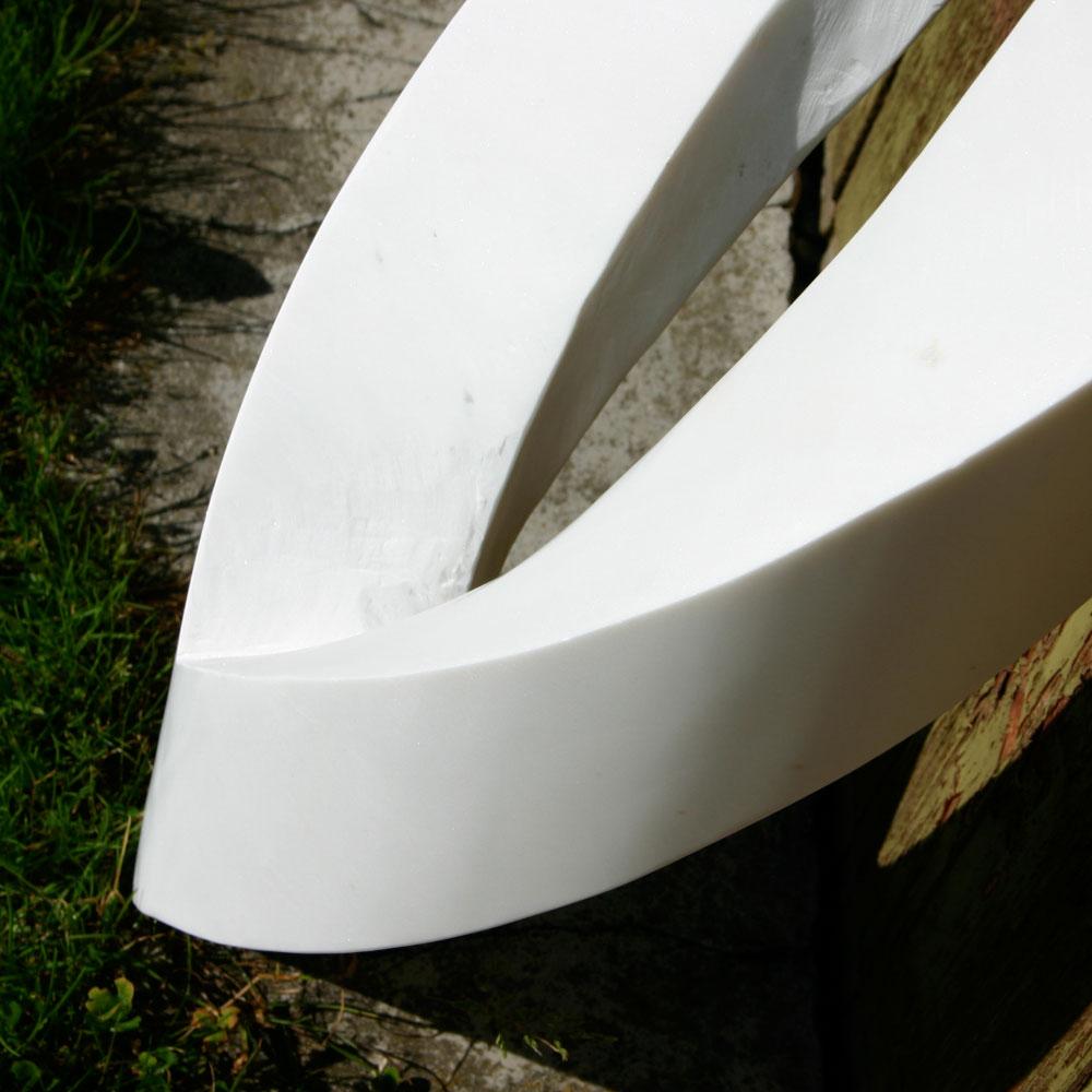"""Skulptur """"Olivenblatt"""""""