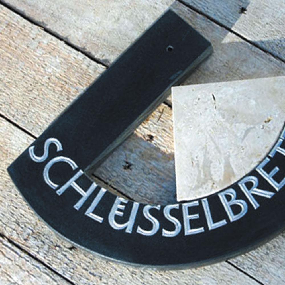 "Schlüsselbrett ""schwarz-weiss"""