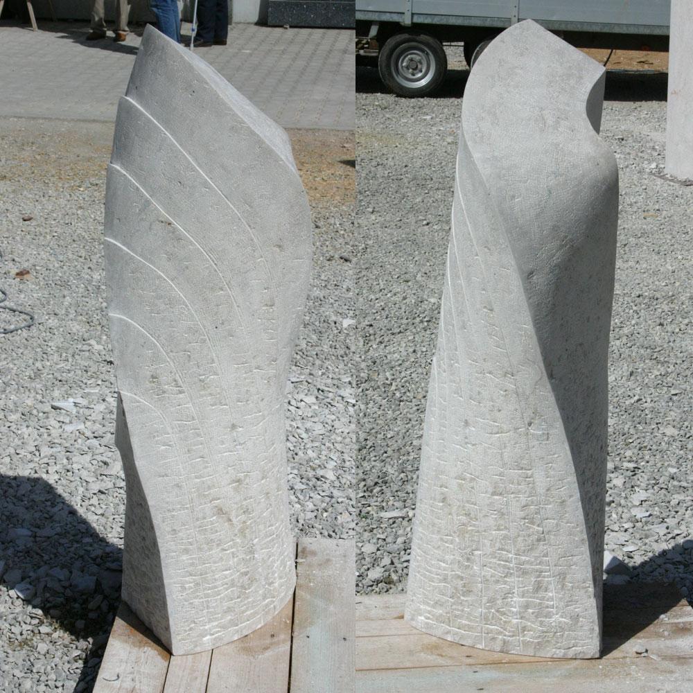 Skulptur Naturstein Perspektivenwechsel Steinmetz Mosandl